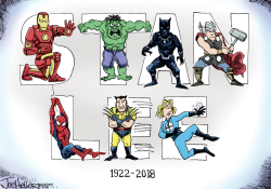 Stan Lee by Joe Heller
