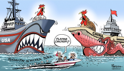 US China in SChina sea by Paresh Nath