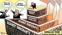 Donald Trump's walls by Paresh Nath