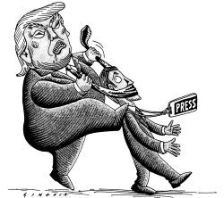 Trump and the Media by Osmani Simanca