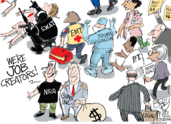 Gun Jobs by Pat Bagley