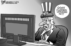 Uncle Sam and Facebook by Bruce Plante