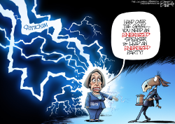 Nancy Pelosi by Nate Beeler