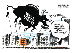 Wall Street decline by Jimmy Margulies