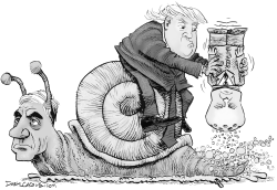 Trump Mueller and Whitaker by Daryl Cagle