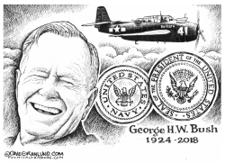 George H W Bush tribute by Dave Granlund
