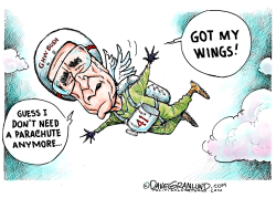 George H W Bush wings by Dave Granlund