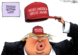 MAGA Hats by Nate Beeler