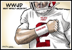 WWJD Jalen Hurts by J.D. Crowe