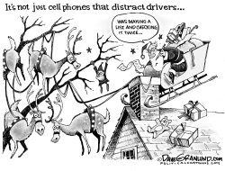 Holiday driver distractions by Dave Granlund