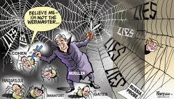 Trump's web of lies by Paresh Nath