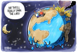Climate Change Owns the Libs by Dave Whamond