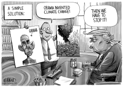 Obama invented climate change by Dave Whamond