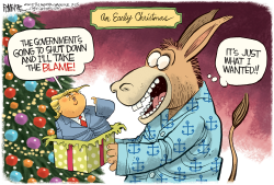 Trump Shutdown Gift by Rick McKee