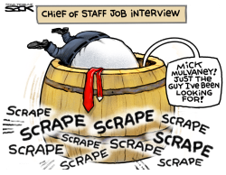 Scraping Bottom for Chief of Staff by Steve Sack
