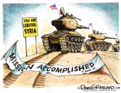 US troops exiting Syria by Dave Granlund