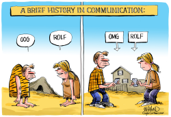 A Brief History of Communication by Dave Whamond