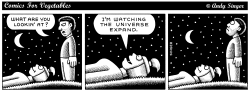 Comics for Vegetables Watch Universe Expand by Andy Singer