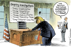 All the president's investigations by Patrick Chappatte