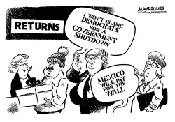 The Wall and the government shutdown by Jimmy Margulies