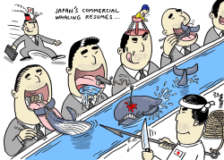 Japan 's whale hunt resumes by Stephane Peray