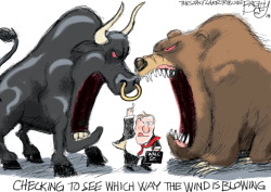 Bear and Bull by Pat Bagley