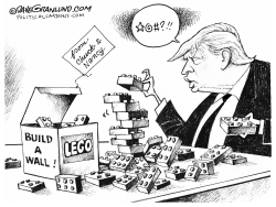 Trump wall reality by Dave Granlund