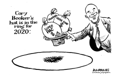 Cory Booker's Hat in the Ring by Jimmy Margulies