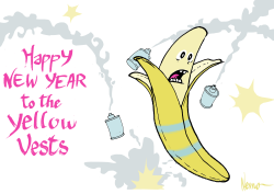 Happy New Year for the Yellow Vests by NEMØ