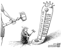 The gavel by Adam Zyglis