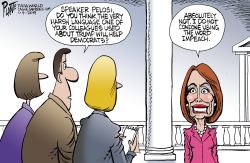 Pelosi on harsh language by Bruce Plante