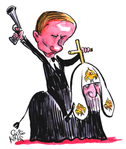 Putin and Church by Christo Komarnitski