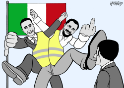 Italians against Macron by Rainer Hachfeld