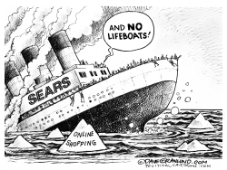 Sears sinking by Dave Granlund