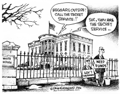 Shutdown Fed employees by Dave Granlund