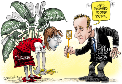 National Version–Los Angeles Teachers Strike by Daryl Cagle