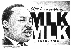 MLK 90th birthday anniversary by Dave Granlund