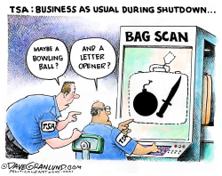 TSA during Gov't shutdown by Dave Granlund