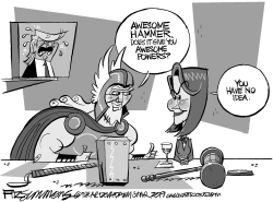 The Hammer of the House by David Fitzsimmons