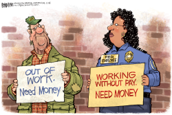 Federal Workers by Rick McKee
