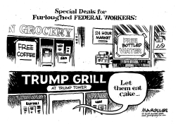 Furloughed FEDERAL WORKERS by Jimmy Margulies