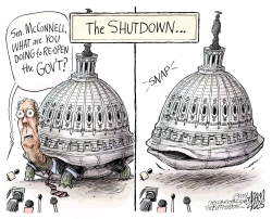 Missing Majority Leader by Adam Zyglis
