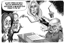 Shutdown negotiations with Coulter and Limbaugh by Dave Whamond