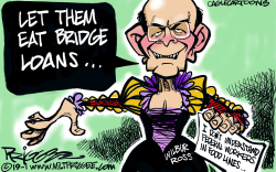 Wilbur Ross by Milt Priggee