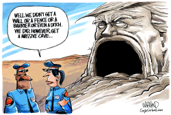 Border Wall by Dave Whamond