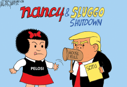 Pelosi vs Trump by Jeff Darcy