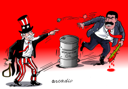 The venezuelan oil in the middle by Arcadio Esquivel