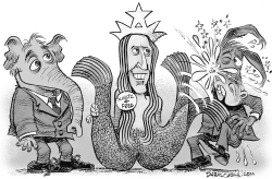 Howard Schultz by Daryl Cagle