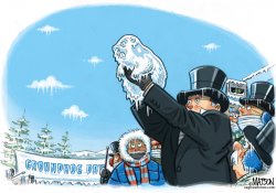 Frozen Groundhog by RJ Matson