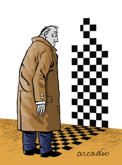Square shadow of a man by Arcadio Esquivel